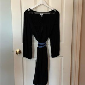 Long black tunic dress size LT